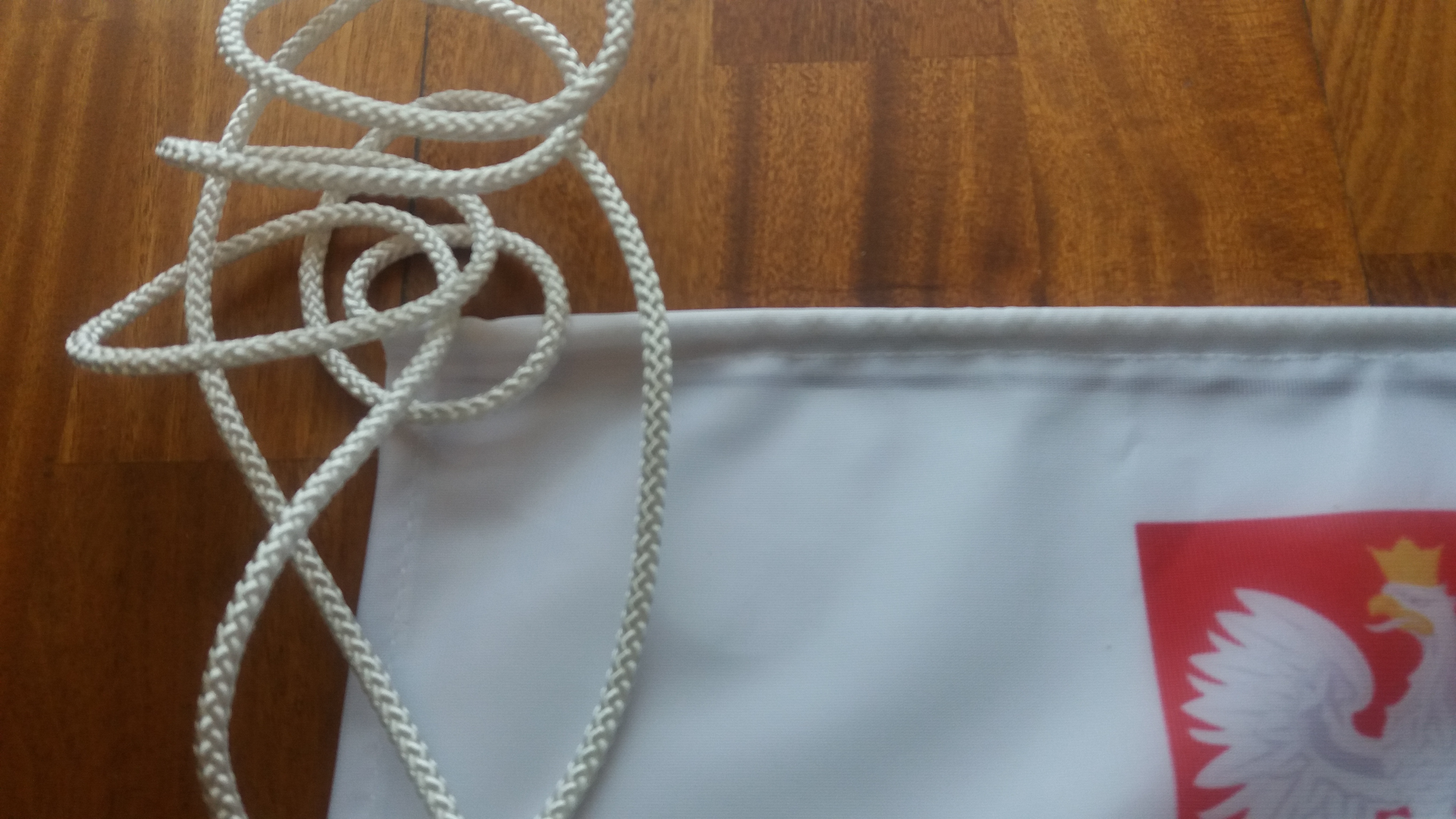 Flaga kibica ze sznurkami