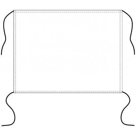 Flaga kibica ze sznurkami (dzianina poliestrowa 110g/m2)