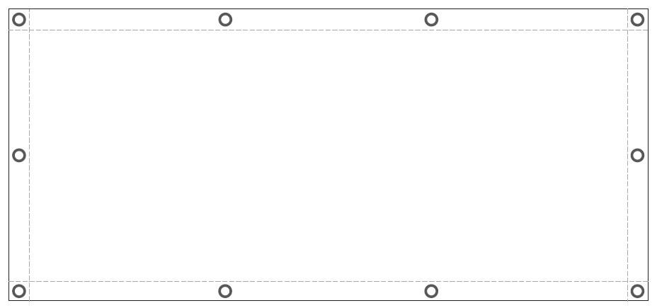 Baner na lekkich materiałach poliestrowych